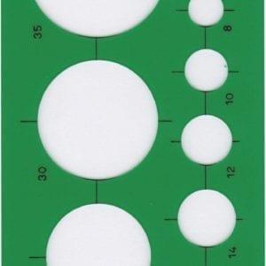 Maschere PROFESSIONALI FARA O STANTARDGRAPH - 20cerchi da mm. 1 a mm. 40