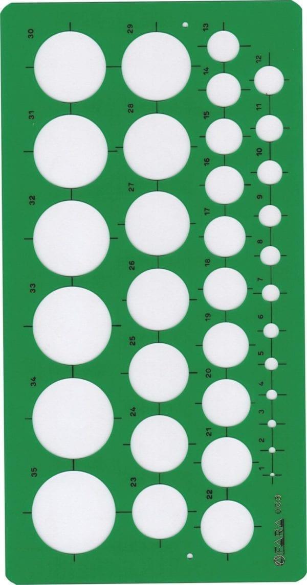 Maschere PROFESSIONALI FARA O STANTARDGRAPH - 35cerchi da mm. 1 a mm.35