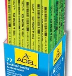 """ADEL HB """"NEON-LINE"""" - Triangolare - barattolo 72pz"""