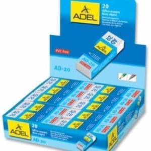 """ADEL """"AD-20"""" e """"AD-30"""" GOMMA DA CANCELLARE - Espositore 20pz AD-20 60x22x12mm"""